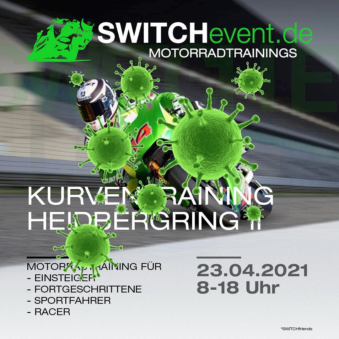 Photo by SWITCHevent Motorradtrainings in Heidbergring. May be an image of text.